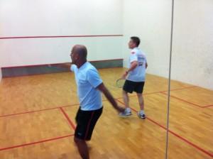 G.Günsav und S.Rodekurth im Spiel an Position Eins
