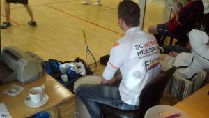 Eventmanager Eike Gehlhaar zimmerte nach belieben auf die Trommel, was so manchen Gegner zur Verzweiflung trieb :)