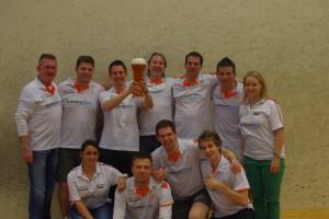Die HOTSOX bei ihrer Oberligameister-Feier 2013