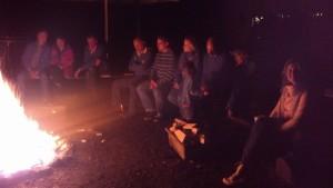 Nach anfänglichem Regen gab es doch noch Lagerfeuer!