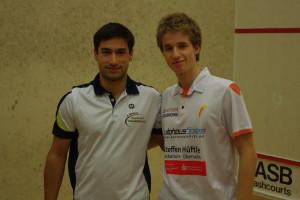 ganz klar die Begegnung des Spielwochenendes: Aqeel Rehman (li.) mit Patrick Miescher