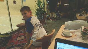 Feuerte seine Jungs fleißig an: HOTSOX-Junior Marc Winkler