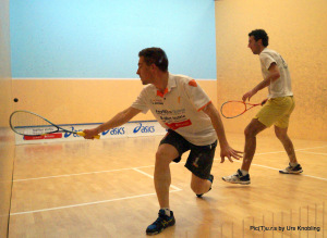 Stefan Rodekurth (li.) im Spiel mit Daniel Echavarria