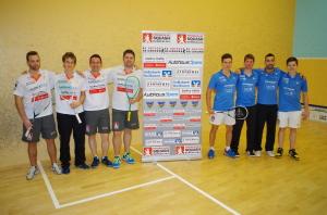 Die Teams von li.n.re.: Blach, Miescher, Rodekurth, Janke - Rapp, Petzoldt, Krajcsak und Omlor