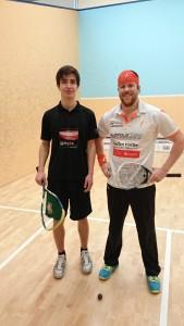 Tim Vaclahovsky (Königsbrunn, li.) und Stefan Sacher vor ihrem Spiel
