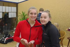 Franziska Hennes (li.) und Annika Wiese vom SC Paderborn stehen beide im Halbfinale der Damen