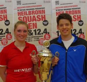Franziska Hennes und Raphael Kandra (bei SC Paderborn) haben die Heilbronn Squash Open gewonnen!