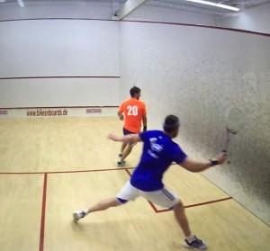 Sacher im Halbfinale mit  Tim Gräßer