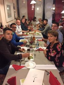 Bei der Weihnachtsfeier ließen viele HOTSOX das Squashjahr bei einem gemütlichen Abendessen ausklingen