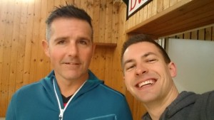 Frank Erbe (li.) und Stefan Rodekurth traten in Bornheim an